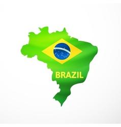 Flag maps of brazil vector