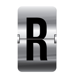 Alphabet silver flipboard letters r vector image