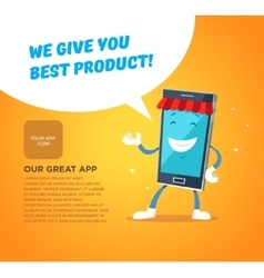 Phone character app market concepts for web vector