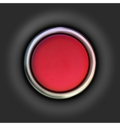 Realistic red button vector