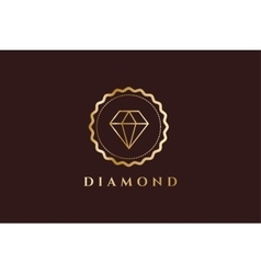 Vintage old diamond logo icon template vector
