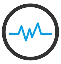 Pulse monitoring icon vector