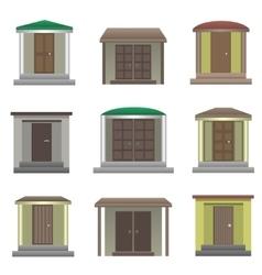 House doors vector image