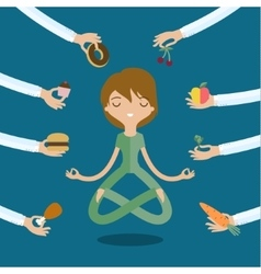 Healthy and junk food vector