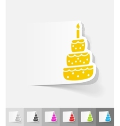 Realistic design element cake vector