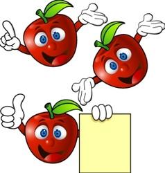 apple cartoon character vector image
