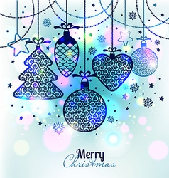 New years greeting card merry christmas vector
