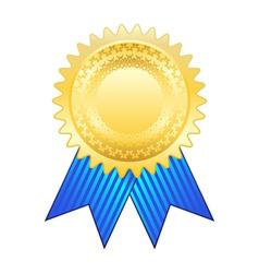 Gold award ribbon vector