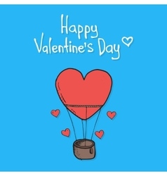 Valentines day featuring flying balloon vector