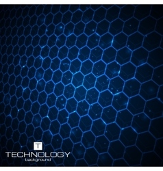 Technology background with honeycomb texture vector