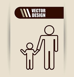 Family silhouette design vector