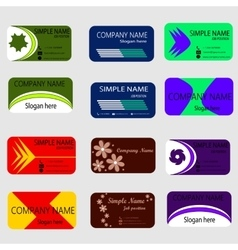Set of modern creative business card vector