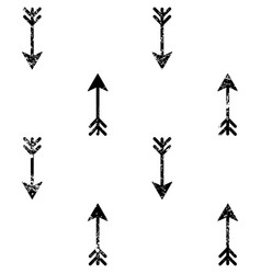 arrows grunge seamless aztec pattern vector image