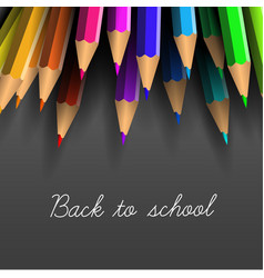 back to school poster with crayons vector image vector image