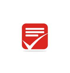 Check list logo vector
