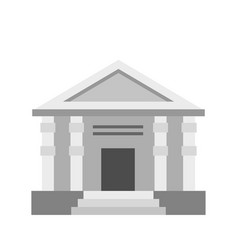 colonnade icon flat style vector image