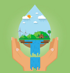 flat eco design vector image