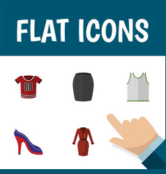 flat icon dress set of clothes singlet stylish vector image vector image