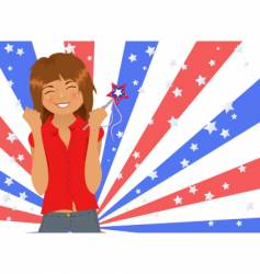 fourth of july picture vector image