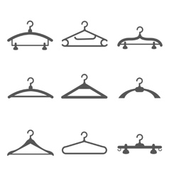 Hangers black icons vector image