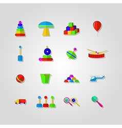 Icons for children toys vector
