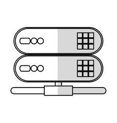 Isolated web hosting device design vector