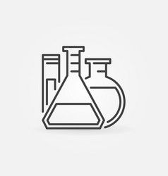 Laboratory glassware outline icon vector