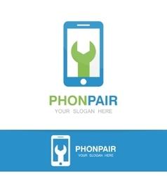 Logo of repair of phone vector