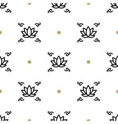 lotus seamless pattern yoga background vector image vector image