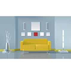 Modern living room interior design vector