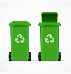 realistic 3d detailed recycled bins for trash and vector image