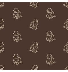 seamless owl pattern vector image