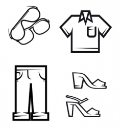 set of people cloth vector image vector image