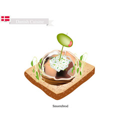 smorrebrod with spiced meat roll the national dis vector image vector image