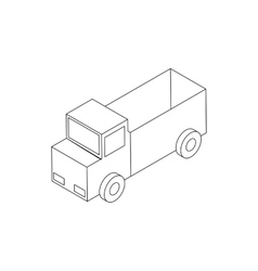 Toy truck icon isometric 3d style vector