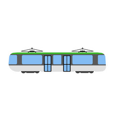 tram flat icon and logo cartoon vector image vector image