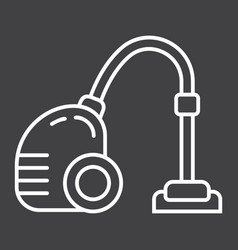 Vacuum cleaner line icon electric and appliance vector