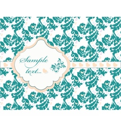 Vintage card with lace ornaments vector