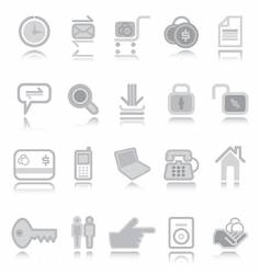 web icons silver vector image vector image