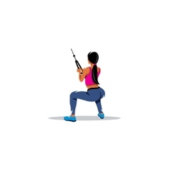 Workout sign Passion woman shakes his thigh vector image vector image