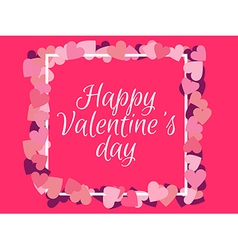 Happy valentines day background for a card vector