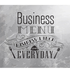 Business lunch coal vector