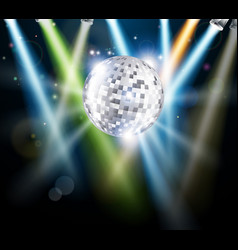 disco mirror ball background vector image