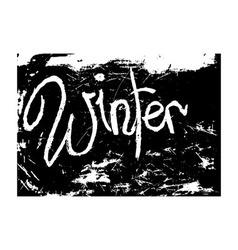 chalk texture word winter vector image