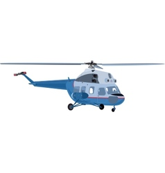 The helicopter isolated vector image