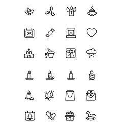 Christmas Line Icons 3 vector image