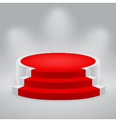 3d podium carpet vector image