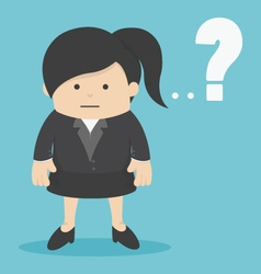 Business woman with question mark vector