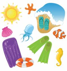 Vacation set vector