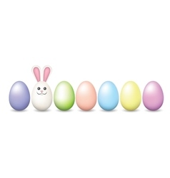 Row of easter pastel eggs vector